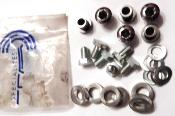 6 T.A CYCLOTOURIME CHAINRING BOLTS - 6 Vis assemblage plateaux