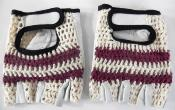 BICYCLE GLOVES COTON CROCHET AND LEATHER - Gants mitaine