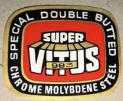 SUPER VITUS 983 TUB QUALITY STICKER - Autocollant serie de tubes